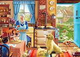 In Granny's kitchen