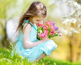 Juntando tulipanes