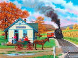 John Sloane-painting-autumn