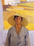 Nikolaos Lytrass, The straw hat, 1925 JPG