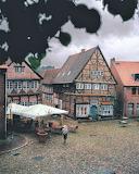 A walk across the market place Molin Germany