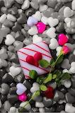 cake, rose, hearts