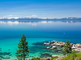 Lake Tahoe Located Both California and Nevada USA