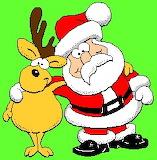 Kerstman en zijn rendier