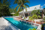 Beach front villa and pool in the Cayman Islands