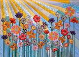 Whimsical garden, Tina Curran quilt