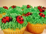 #Yummy Ladybug Cupcakes