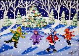 Ice Skaters By Renie Britenbucher
