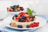Berries and currants dessert