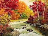 Paysage d'automne-peinture