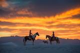 Sunset-Horses-White Sand-Craig Varjabedian Photography