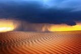 Landscape-desert-sand storm