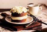 #Two-Layer Cupcake & Coffee