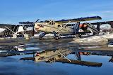 Turbo Beaver and reflection at Lake Hood, Anchorage , Alaska