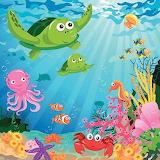 Kids Underwater Scene