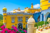 colorful palace in Portugal
