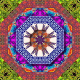 Colorful kaleidoscope abstract kg23
