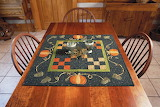 ^ Fall primitive quilt table topper
