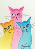 Whimsical Cats by Lori Alexander