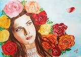 Virágos hölgy