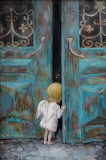 Angel at door