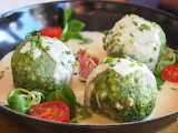healthy food-spinach dumplings