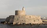 Agios Nikolaos lighthouse, Mandraki, Rhodes, Greece