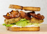 ^ Bacon, Lettuce and Fried Green Tomato Sandwich