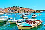 Village of Hvar on Croatian Island