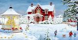 Winter scene-painting