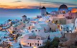 Blue hour Santorini Greece