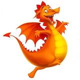Orange happy dragon