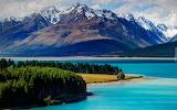 Góra Cooka i jezioro Pukaki w Nowej Zelandii
