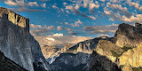 Panorama of El Capitan Mountain California USA