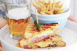^ New York Reuben Sandwich, Fries, Beer