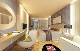Warm-white-lamp-hotel-inspired-bedroom-designs-with-cream-and-wh