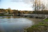 Pont inondé / Bridge with water overflow