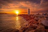 Walton Lighthouse at sunset