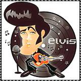 Elvis Record Cartoon
