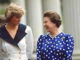 Queen Elizabeth with Princess Diana