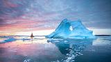 Midnight Sun, Disko Bay, Greenland