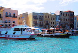 Tourist boats Chania harbour