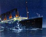 Titanic Hitting Iceberg