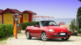Fiat Barchetta and Girl