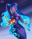 Purple and Blue Mermaid