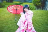 Japanese silky kimono