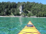 Mackinac Island Kayaking to Arch Rock by Nancy Savageau
