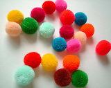Mini handmade party yarn pom pom beads rainbow color