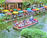 San antonio river walk aerial al rendon sacvb