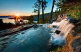Sunrise on Emerald Bay in Lake Tahoe